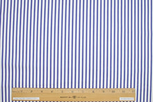 1 1/2+ yards of Candy Striper Italian Cotton Shirting - Blue/White
