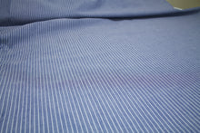 Pinstripe Cotton Oxford Cloth Shirting - Blue/White