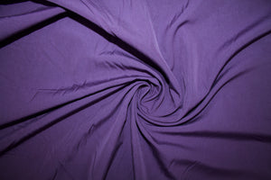 Italian Designer Fine Cotton Shirting - Eggplant