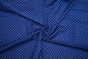 Dainty Dots Japanese Cotton - Navy/White