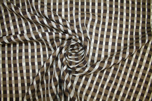 Lightweight Japanese Check Cotton Shirting - Brown Tones
