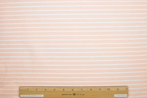 Italian Striped Extra-fine Cotton Shirting - Creamsicle/White