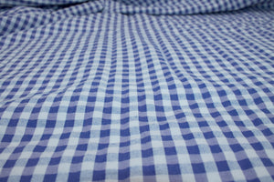 "Gingham ""Homespun"" Cotton Shirt Weight - Ultramarine/White"