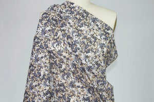 New York Designer Floral Cotton Lawn - Browns/Grays