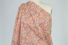 New York Designer Floral Cotton Lawn - Corals/Multi