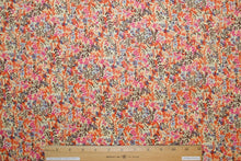 1+ yard of New York Designer Floral Cotton Lawn - Corals/Multi