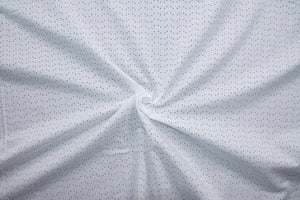 Laser Pin Dot Cotton Shirting - White
