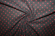 Super Star Japanese Cotton - Red on Black