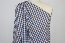 Mini Plaid Cotton Shirting - Brown/Navy/White