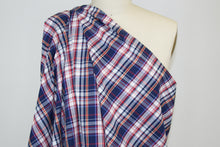 Italian Plaid Cotton Shirting - Navy/Red/Blue/Yellow/Whte