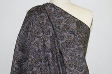 Japanese Paisley Cotton Shirt-weight - Brown Tones