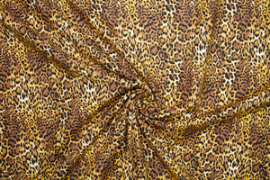 Go Wild Japanese Stretch Cotton - Browns/Golds/Black