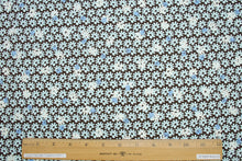 Anne Kle!n Flower Power Stretch Cotton  - Aqua/Blue/Ivory/Brown