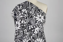 MCM Floral Cotton Stretch Sateen - Black/White