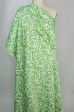 Hawaii Dreaming Stretch Cotton Sateen - Green/White