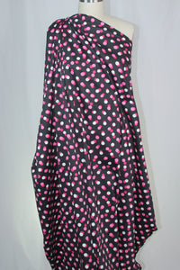 Dot's One Happy Cotton Stretch Sateen - Pinks/White/Black