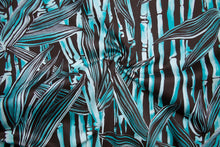 Bamboo, Baby! - Cotton Sateen - Teal/Chocolate