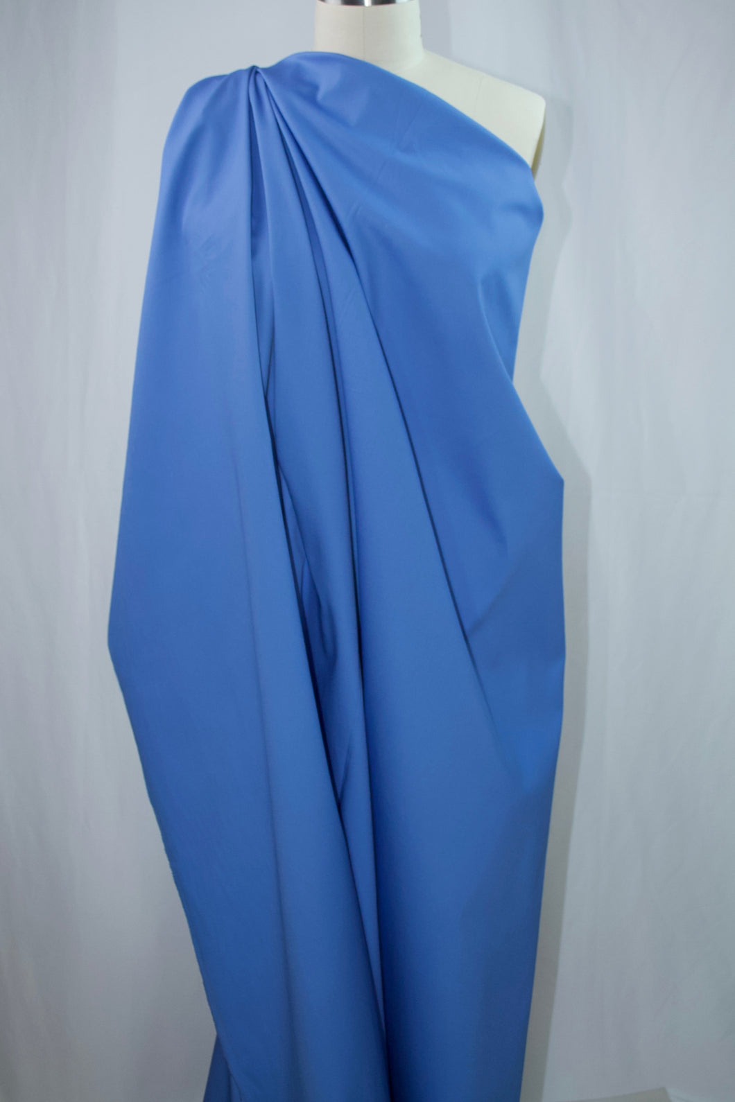 Stretch Cotton Sateen - Regatta Blue