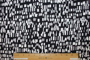 Anne Kle!n Cityscapes at Night Stretch Cotton - Black/White