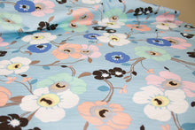 Italian Floral Cotton Stretch Sateen - Pastels