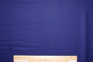 Italian Wool/Cashmere Flannel - Navy Blue