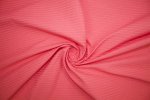 Cotton Ottoman - Spicy Coral