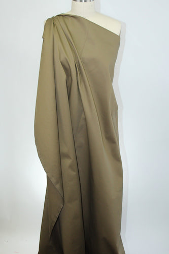 3 yards of Bottom Weight Stretch Cotton Twill - Olive
