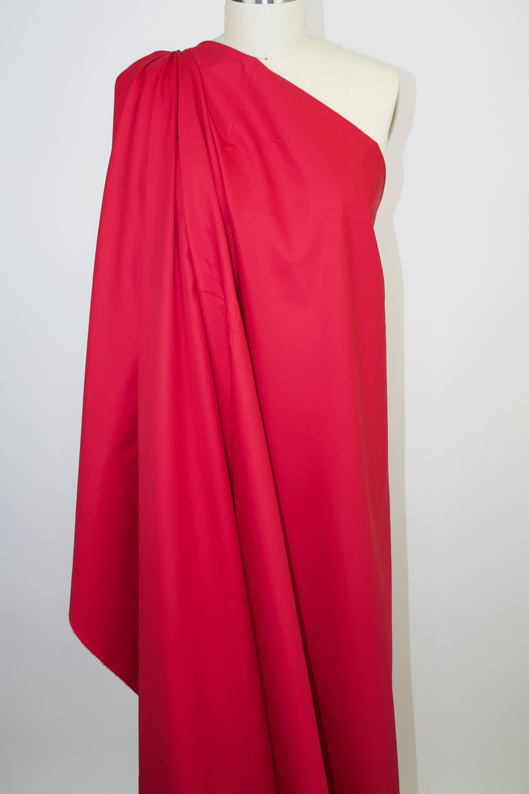 Lightweight Italian Cotton Twill - Lipstick Red