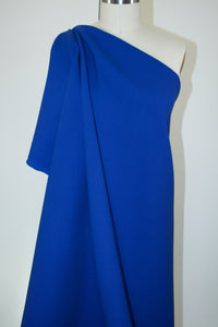 Italian Designer Double Faced Stretch Wool Crepe - Lapis
