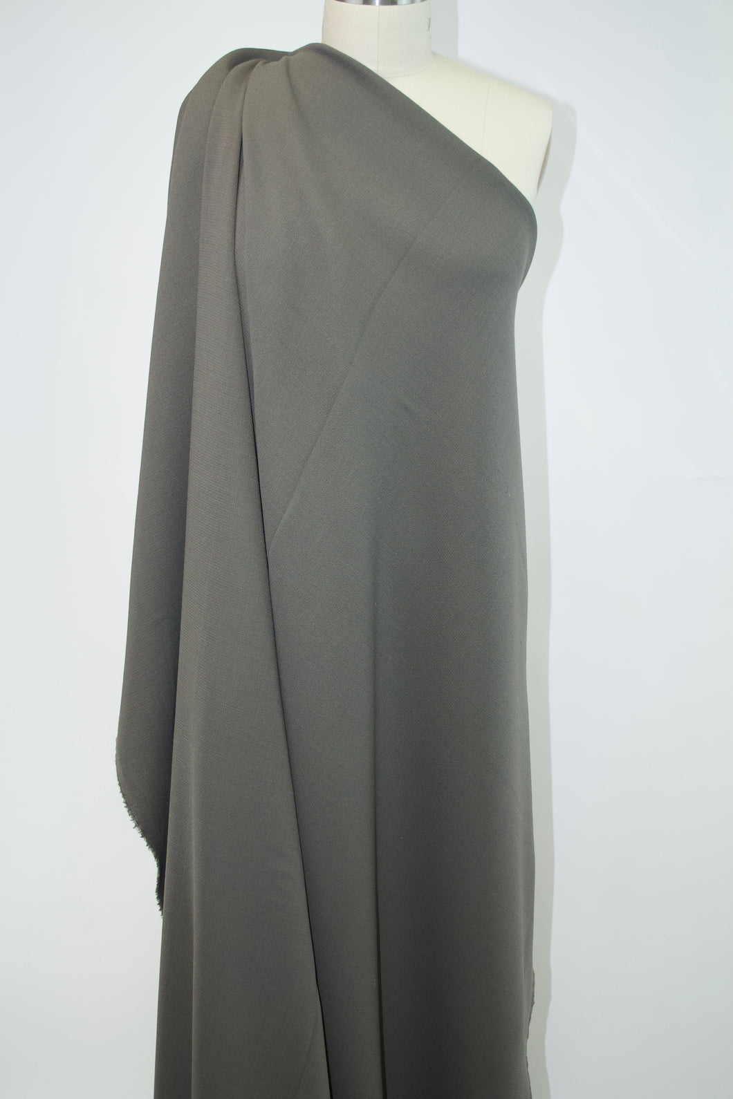 Italian Designer Double Faced Wool Crepe - Morel Taupe