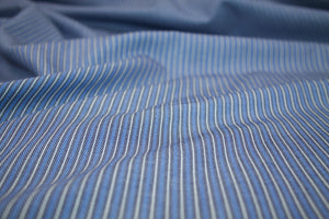 Pinstriped Designer Denim - Blue/Black/White