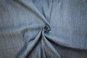 "Premium Manufacturer Stretch ""Pinstripe"" Denim - Almost Black"