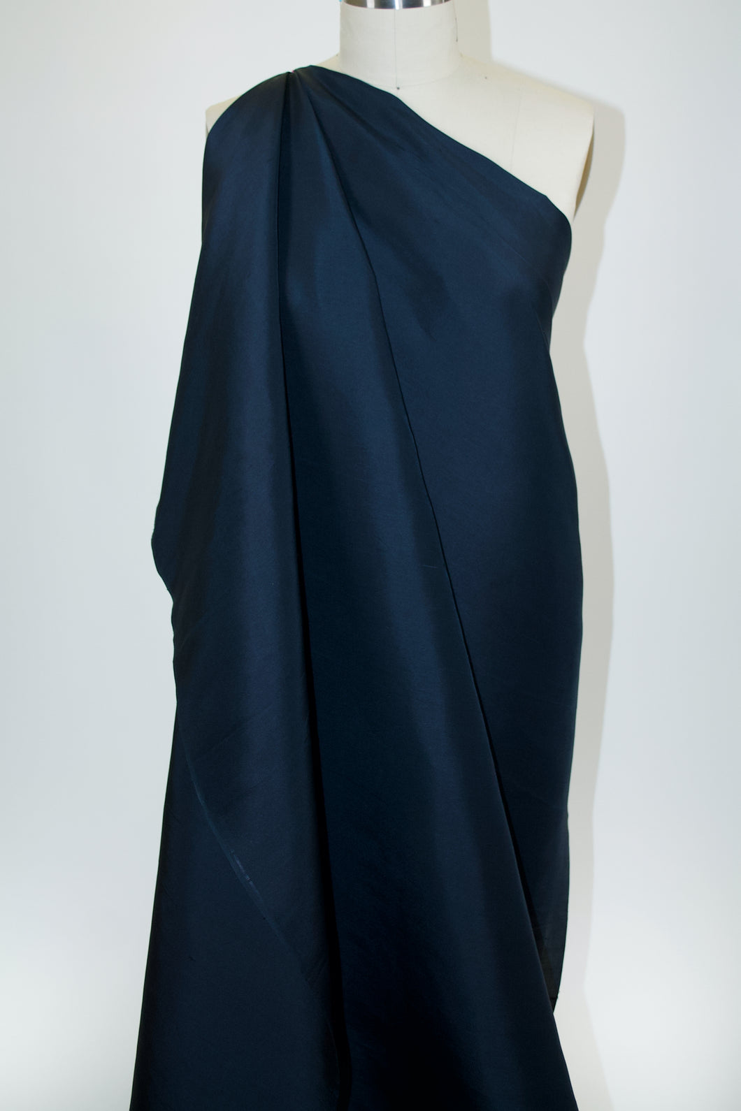 Italian Silk Shantung - Midnight Navy
