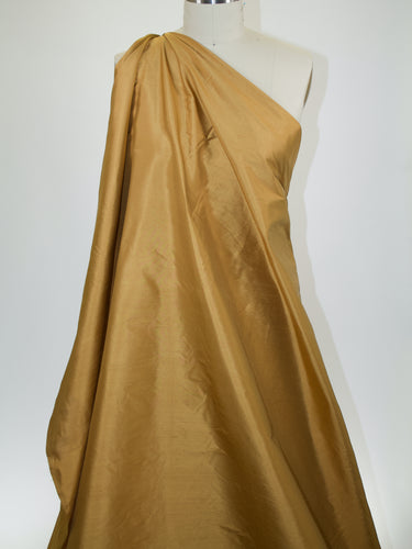 Wide Silk Dupioni - Spun Gold