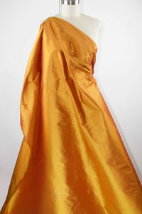 Wide Silk Dupioni - Iridescent Copper
