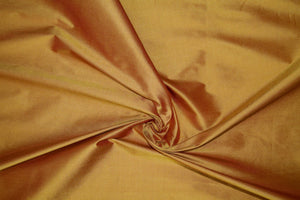 Wide Silk Duppioni - Iridescent Copper