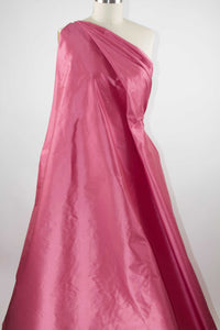 Wide Silk Dupioni - Iridescent Rose