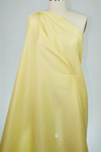 Wide Lightweight Silk Dupioni - Pale Lemon