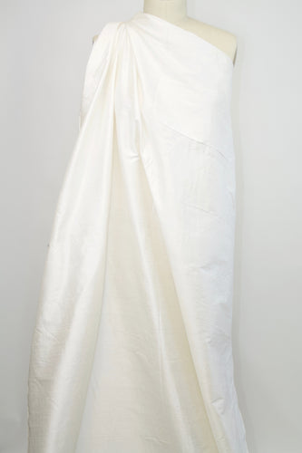 Famous Bridal Maker Silk Dupioni - Silk White