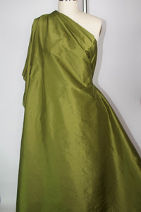 Wide Silk Dupioni - Army Green