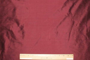 Wide Silk Dupioni - Deep Burgundy