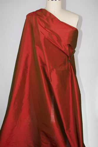 Wide Silk Dupioni - Iridescent Tawny Port