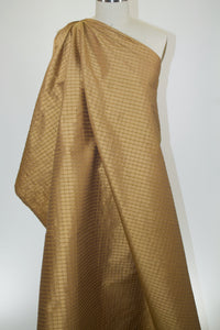 Pintucked Silk Taffeta - Golds