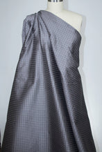Pintucked Silk Taffeta - Gray/Silver