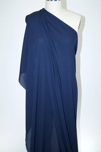 Stretch Silk Georgette - Navy