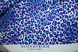 Cat People Silk Georgette - Blues/White