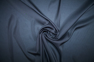 Stretch Satin Finish Silk Georgette - Black