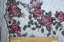 Rose Garden Embroidered Lace - Pinks/Greens/Black