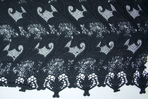 French Heavy Guipure Lace - Black