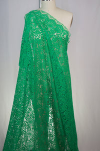 NY Designer Corded Rayon-blend Lace - Emerald